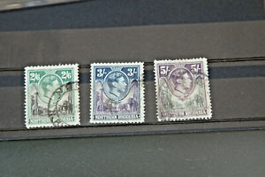 NORTHERN RHODESIA - GVI 1938 2s6d - 5s (SG41/3) - FINE USED