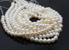 Nearly round natural Freshwater pearl spacer loose beads no modification 5~6mm