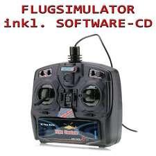 8 Kanal Flugsimulator-Set inkl. Flugsimulation mit RC Hubschrauber und Flugzeug