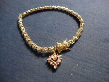 Ruby Diamond Tennis Bracelet Grandmas Sterling Silver Chunky Vermeil