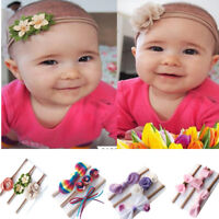 3Pcs/set Cute Kids Girls Baby Toddler Flower Headband Hair Band Headwear Gift
