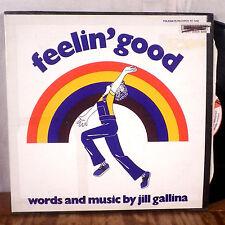 Jill Gallina Feelin' Good LP Folkways Records w/ inner VG+