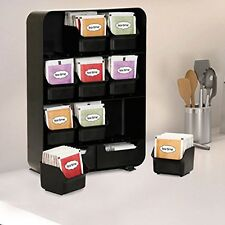 Tea Bag Storage Box Condiment Organizer Display Chest Holder Compartment Kitchen