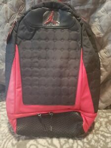 Nike Jordan Retro 13 Black Red Bred Backpack Book bag