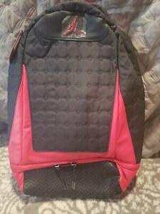 Nike Jordan Retro 13 Black Red Bred Backpack Book bag
