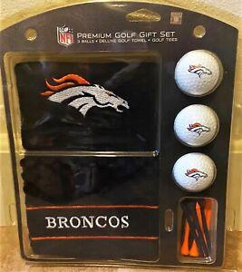 Denver Broncos Premium Golf Gift Set - 3 Balls / Golf Towel / Tees - COLLECTIBLE