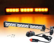 "14"" Amber&Yellow 12 LED Emergency Warning Traffic Advisor Flash Strobe Light Bar"