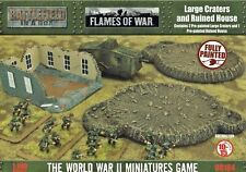 Large Craters and Ruined House Great War - BB184 Flames of War