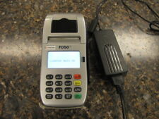 First Data FD50 Ti Credit Card Reader Machine Terminal with power supply