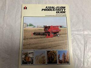International Harvester Axial Flow Combine Brochure
