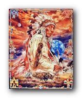 Indian Chief Bruce Lakofka Native American Wall Decor Art Print Picture (8x10)