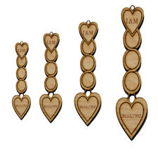 Personalised Wooden Love Spoons Heart Circle Vintage Wedding Favours Decoration