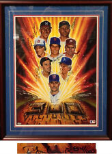 300 Win Club Steiner 8 Player Signed 18x22 Ron Lewis Framed Litho Ryan, Seaver +