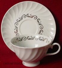 ARCADIAN Prestige china SILVER WREATH pttrn CUP SAUCER