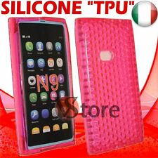 Cover For Nokia N9 Fuchsia Gel Silicone TPU Case Diamond Fucshia