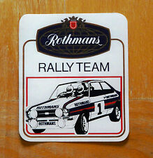 Rothmans Rally Team Ford Escort Mk2 Plaza Motorsport ETIQUETA / ETIQUETA