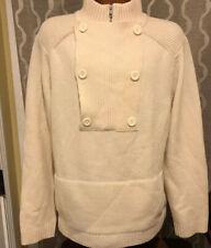 ARMANI EXCHANGE AX LAMBS WOOL Mens Ivory Sweater XL