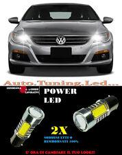 VW PASSAT CC COPPIA LAMPADE LUCI DIURNE A LED 6000K P21W BA15 NO ERROR