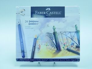Faber-Castell Goldfaber Studio Color Pencils Tin of 24 Made in Germany