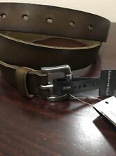 NWT Banana Republic Small Buckle Brown Leather Casual Belt, Sz. 40