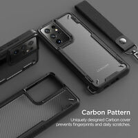 For Galaxy S21 Plus/ Ultra Case VRS®[Crystal Mixx Pro]Carbon Pattern Clear Cover