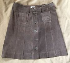 L.O.G.G. H&M Women's Brown Leather Skirt Sz US 8 A-line Wrap W 32 L 20 Excellent