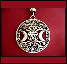 WICCA PENTAGRAM - SUN AND MOON/ TREE OF LIFE PENDANT