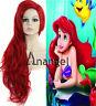 Little Mermaid Ariel Wig Wavy Red Full Cosplay Wigs women long Synthetic hair