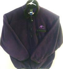 Helly Hansen Mens Large Fleece Nylon 1/2 Zip Long Sleeve Purple Pullover Jacket