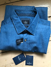 Hackett denim multitrim slimfit shirt, XXL, Bnwt, Rrp £100+