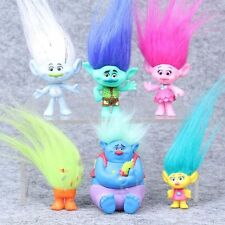 New 6 Pcs DreamWorks Movie Trolls Action Figures Toys Poppy Branch Kids Gifts