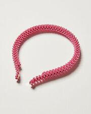 Oliver Bonas Women Annie Faux Pearl Beaded Pink Headband