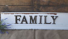 """4"""" Family Letters Oil Rubbed Bronze Rustic Fixer Upper Wall Decor Sign"""