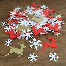 CHRISTMAS Reindeer Red & Gold CONFETTI | Festive/Party/Table Decoration