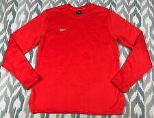 Nike Men's Long Sleeve Athletic Shirt Orange Active Wear Sweater Size M Medium