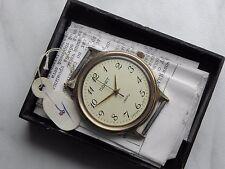 Soviet USSR Poljot quartz unisex watch Box&Paper gold plated minimalist 1989 G.C