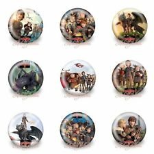 9PCS HOW TO TRAIN YOUR DRAGON® 30MM Badges,Brooches Party Favours