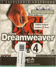 DREAMWEAVER 3 ET 4 - GRAPHISME - MAC OS - WINDOWS 2 LIVRES + 2 CD-ROM    - 30 %