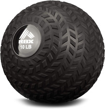 RBX Weight Training Slam Ball for Strength and Conditioning 10 Lb / 8 Lb