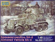 1/48 BA-6 Soviet armored vehicle UM Models kit 502