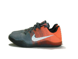 Nike Sneakers Gray Orange Kobe 11 XI Elite Low Easter Mens Size 6 822945 078