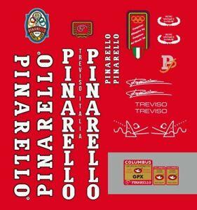 PINARELLO TREVISO FRAME DECAL SET GPX WHITE/BLACK