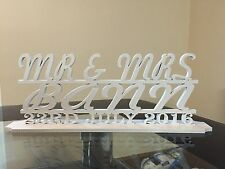 Wedding Mr & Mrs Anniversary Top Table Topper Plaque Plinth Personalised
