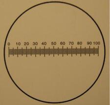 #174 Okular-Mikrometer / Eyepiece graticule Ø 19 mm. 10 mm./100 Divisions