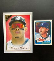 2019 Topps Gallery (2) Manny Machado SD Padres;Box Topper and Gallery Heritage