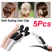 5 PCs Plastic Hair Grips Duckbill Clips Crocodile Clip Alligator Clip For Salon.