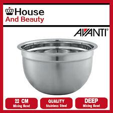 Avanti Deep Stainless Steel Mixing Bowl 22cm Code 16662