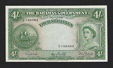 BAHAMAS 1953 (1954) 4 Shillings, P-13b Higgs/Sweeting/Burnside UNC Uncirculated