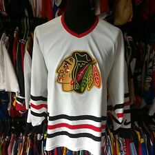 CHICAGO BLACKHAWKS 1990S AWAY NHL ICE HOCKEY SHIRT NIKE JERSEY SIZE ADULT L