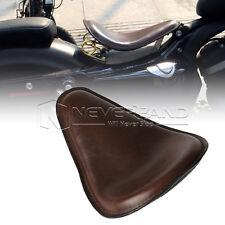 """14.2x10.2"""" PU Cuir Solo Selle Siège Pour Harley Sporster 883 1200 XL Chopper"""